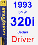 Driver Wiper Blade for 1993 BMW 320i - Premium