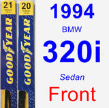 Front Wiper Blade Pack for 1994 BMW 320i - Premium
