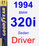 Driver Wiper Blade for 1994 BMW 320i - Premium