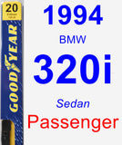 Passenger Wiper Blade for 1994 BMW 320i - Premium