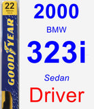 Driver Wiper Blade for 2000 BMW 323i - Premium