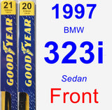 Front Wiper Blade Pack for 1997 BMW 323i - Premium