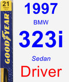 Driver Wiper Blade for 1997 BMW 323i - Premium
