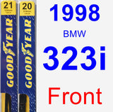 Front Wiper Blade Pack for 1998 BMW 323i - Premium