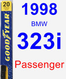 Passenger Wiper Blade for 1998 BMW 323i - Premium