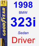 Driver Wiper Blade for 1998 BMW 323i - Premium