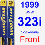 Front Wiper Blade Pack for 1999 BMW 323i - Premium