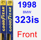 Front Wiper Blade Pack for 1998 BMW 323is - Premium