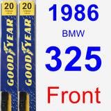 Front Wiper Blade Pack for 1986 BMW 325 - Premium