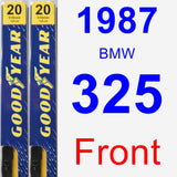 Front Wiper Blade Pack for 1987 BMW 325 - Premium