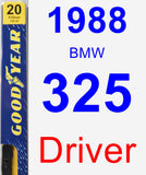 Driver Wiper Blade for 1988 BMW 325 - Premium