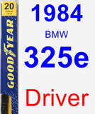 Driver Wiper Blade for 1984 BMW 325e - Premium