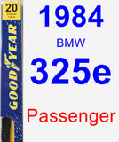 Passenger Wiper Blade for 1984 BMW 325e - Premium