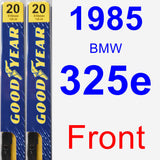 Front Wiper Blade Pack for 1985 BMW 325e - Premium