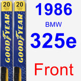 Front Wiper Blade Pack for 1986 BMW 325e - Premium