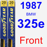 Front Wiper Blade Pack for 1987 BMW 325e - Premium