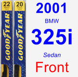 Front Wiper Blade Pack for 2001 BMW 325i - Premium
