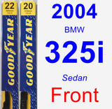 Front Wiper Blade Pack for 2004 BMW 325i - Premium