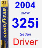 Driver Wiper Blade for 2004 BMW 325i - Premium