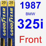 Front Wiper Blade Pack for 1987 BMW 325i - Premium