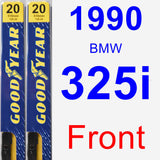 Front Wiper Blade Pack for 1990 BMW 325i - Premium
