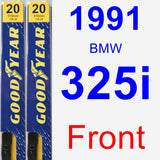 Front Wiper Blade Pack for 1991 BMW 325i - Premium