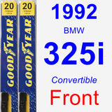 Front Wiper Blade Pack for 1992 BMW 325i - Premium
