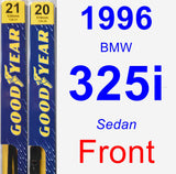 Front Wiper Blade Pack for 1996 BMW 325i - Premium
