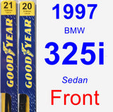 Front Wiper Blade Pack for 1997 BMW 325i - Premium