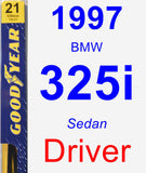 Driver Wiper Blade for 1997 BMW 325i - Premium