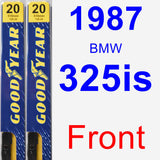 Front Wiper Blade Pack for 1987 BMW 325is - Premium