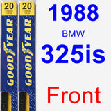 Front Wiper Blade Pack for 1988 BMW 325is - Premium