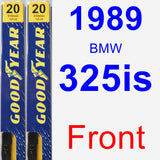 Front Wiper Blade Pack for 1989 BMW 325is - Premium