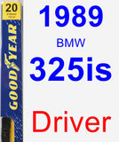 Driver Wiper Blade for 1989 BMW 325is - Premium