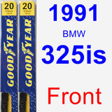 Front Wiper Blade Pack for 1991 BMW 325is - Premium