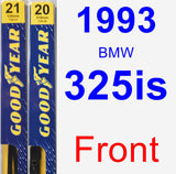 Front Wiper Blade Pack for 1993 BMW 325is - Premium