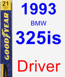 Driver Wiper Blade for 1993 BMW 325is - Premium