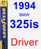 Driver Wiper Blade for 1994 BMW 325is - Premium