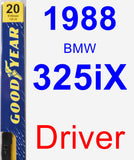 Driver Wiper Blade for 1988 BMW 325iX - Premium