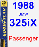 Passenger Wiper Blade for 1988 BMW 325iX - Premium