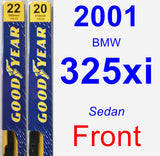 Front Wiper Blade Pack for 2001 BMW 325xi - Premium