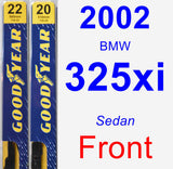Front Wiper Blade Pack for 2002 BMW 325xi - Premium