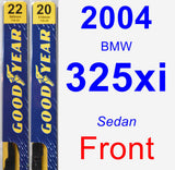 Front Wiper Blade Pack for 2004 BMW 325xi - Premium