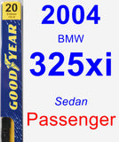 Passenger Wiper Blade for 2004 BMW 325xi - Premium