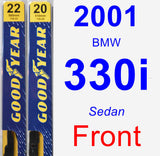 Front Wiper Blade Pack for 2001 BMW 330i - Premium