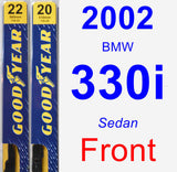 Front Wiper Blade Pack for 2002 BMW 330i - Premium