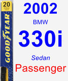 Passenger Wiper Blade for 2002 BMW 330i - Premium