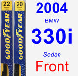 Front Wiper Blade Pack for 2004 BMW 330i - Premium