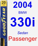 Passenger Wiper Blade for 2004 BMW 330i - Premium