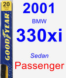 Passenger Wiper Blade for 2001 BMW 330xi - Premium